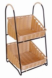 2 Tier Poly Basket Display