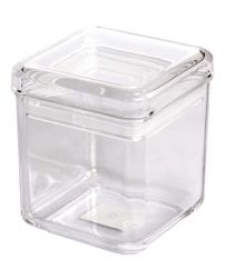 28 OZ Square Jar, Sealed Lid, MS, Foodsafe