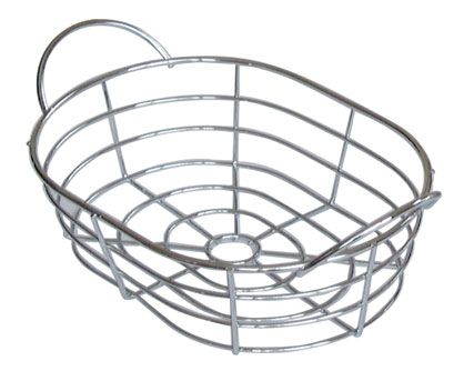 Chromed Wire Oval Basket