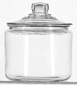 Heritage Glass Jar With Glass Lid