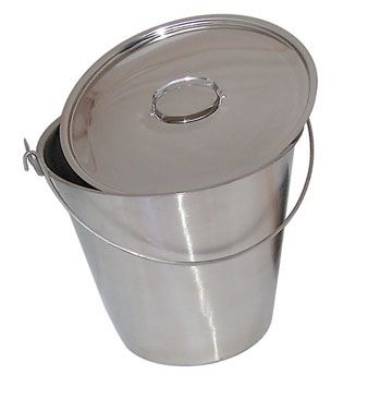 Kitchen Bucket - Stainless Steel