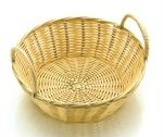 POLY RATTAN BASKET RND WITH HANDLES 20CM / 8""