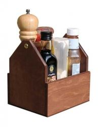 Wooden Square - Condiment Holder